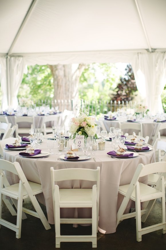 gray and purple wedding at wickham park