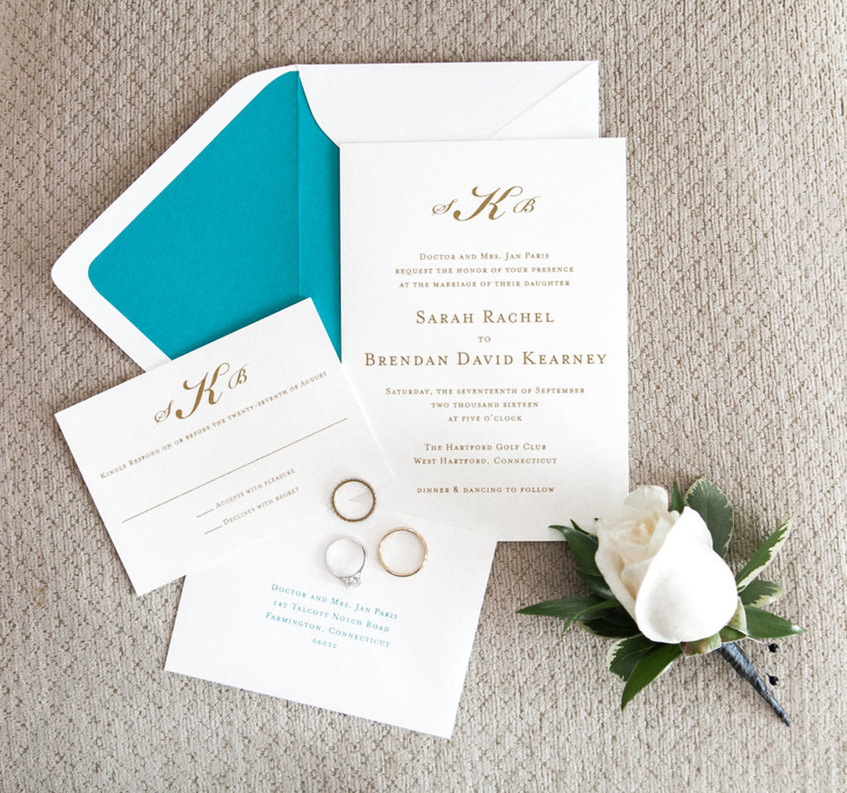 Wedding Invitation Suite by Wedding Paper Divas