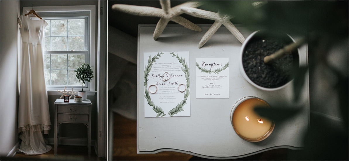 Subtle Greenery on Wedding Invitations Connecticut Wedding Planning Double G Events