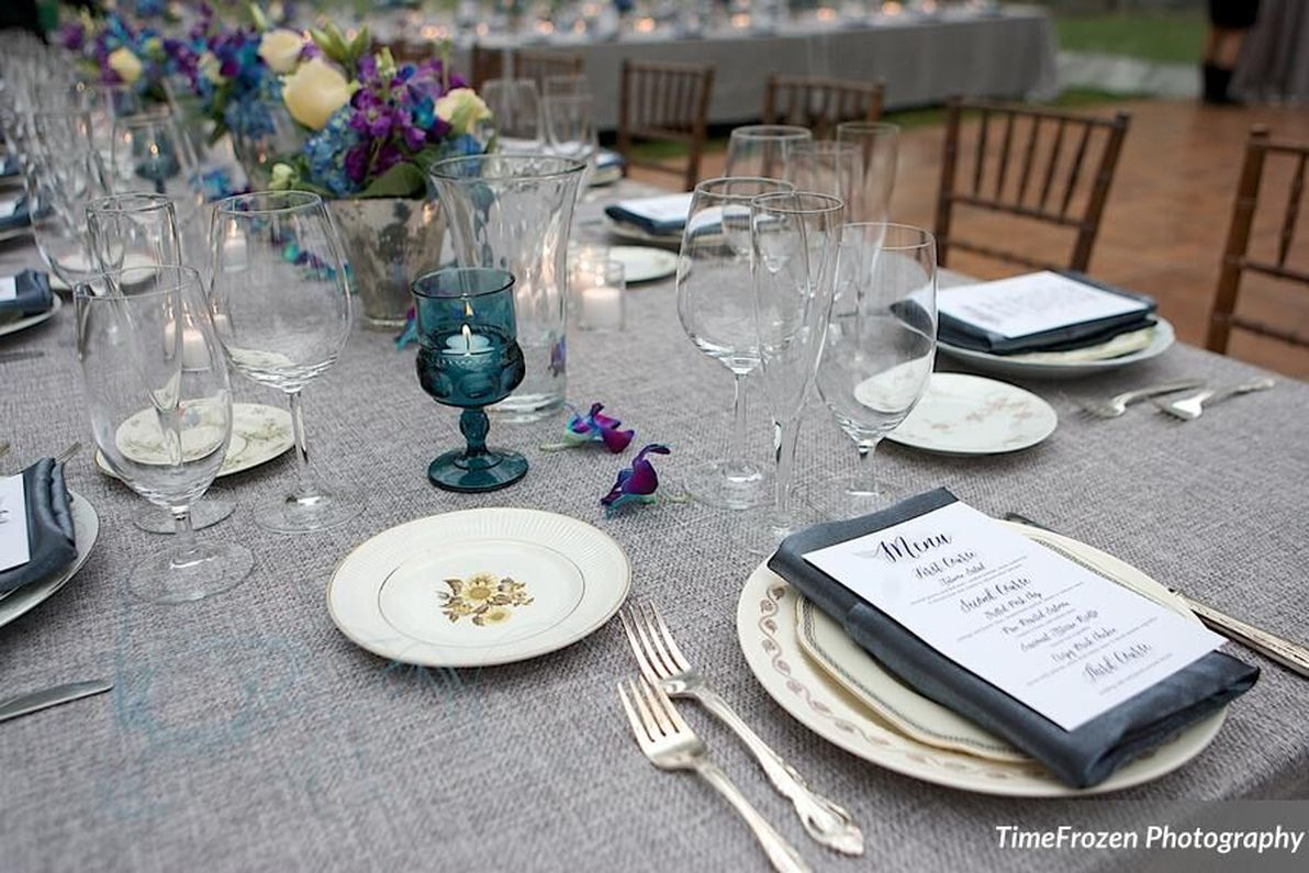 Tented Wedding Table Decorations
