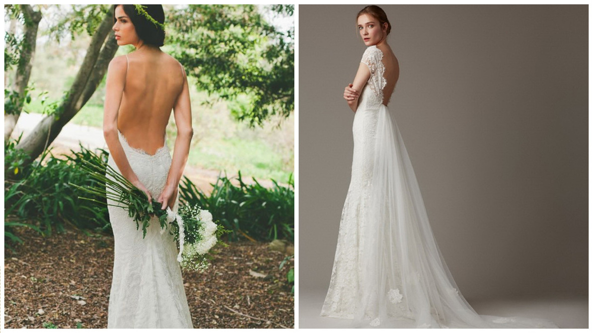 Bare back Wedding Dresses
