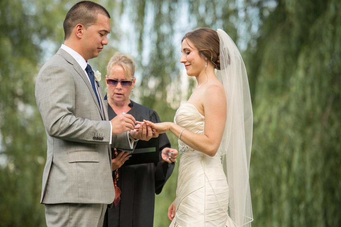 Bride and Groom ceremony, CT Weddings