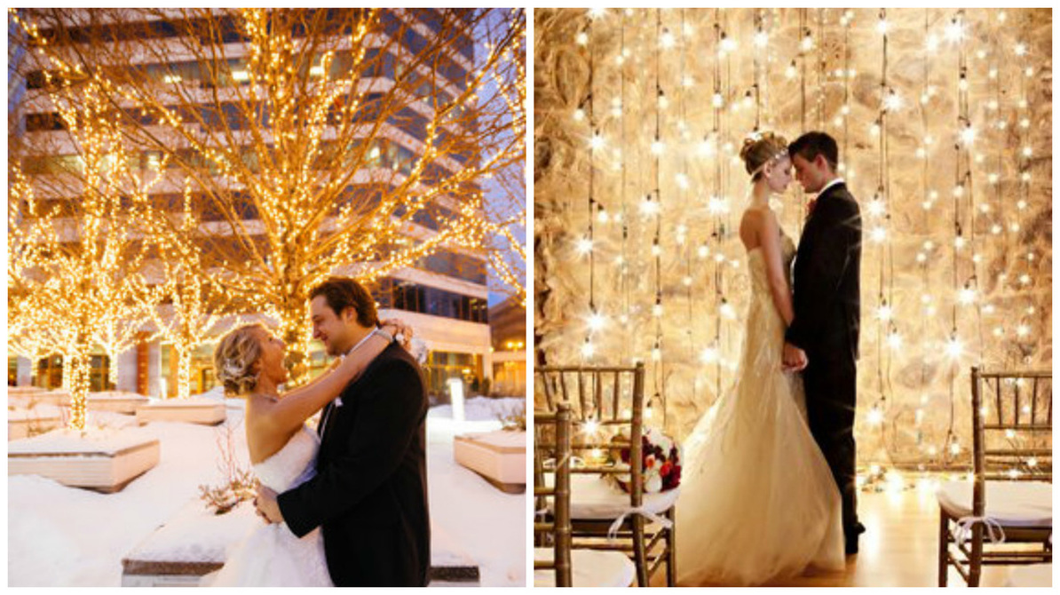 String Lighting Wedding Decor