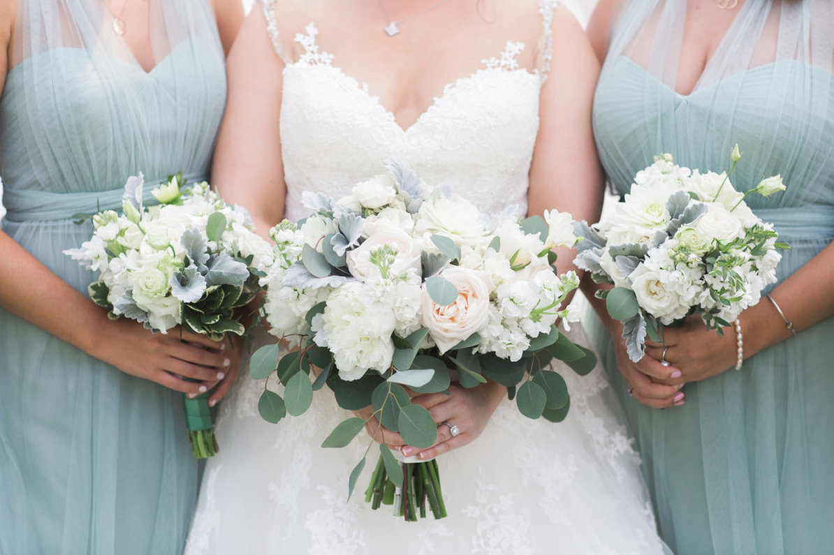 Bridal Bouquet, Bridesmaids, Blush and Cream Wedding Flowers