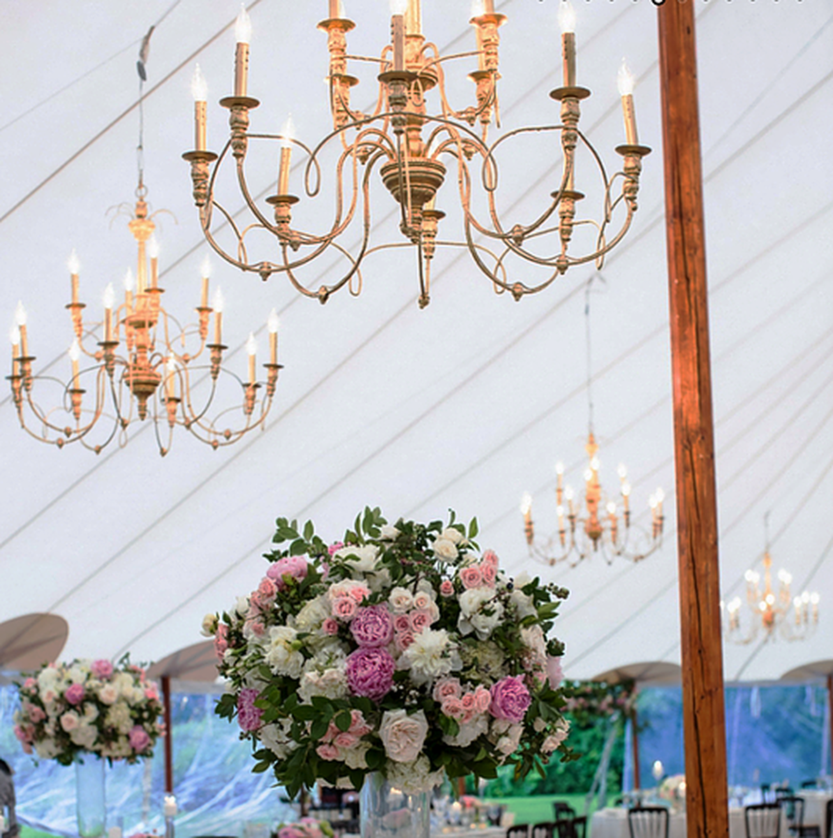Tented Wedding Chandelier Lighting